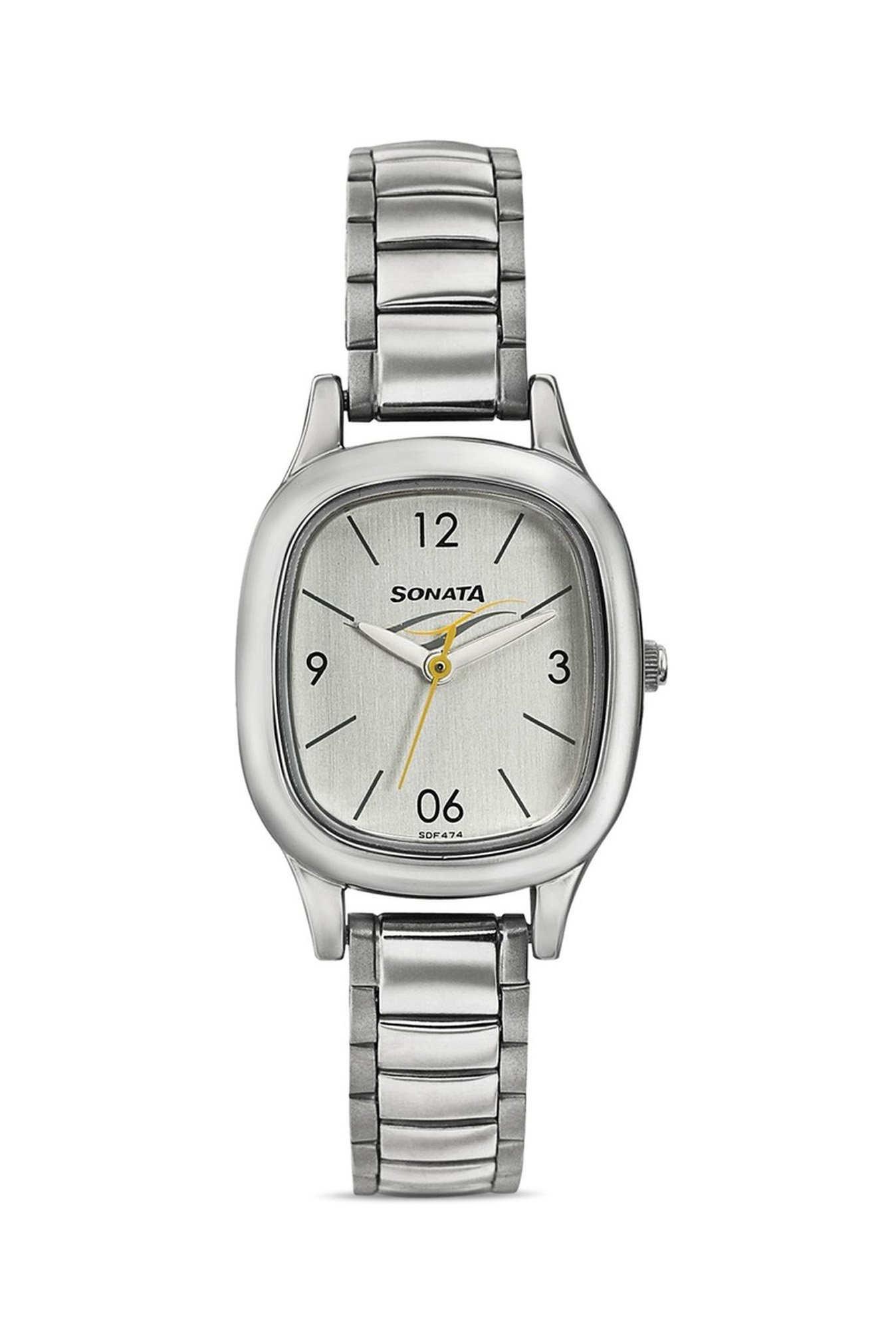 Sonata 8060SM01 Analog Silver Dial Women's Watch (8060SM01)