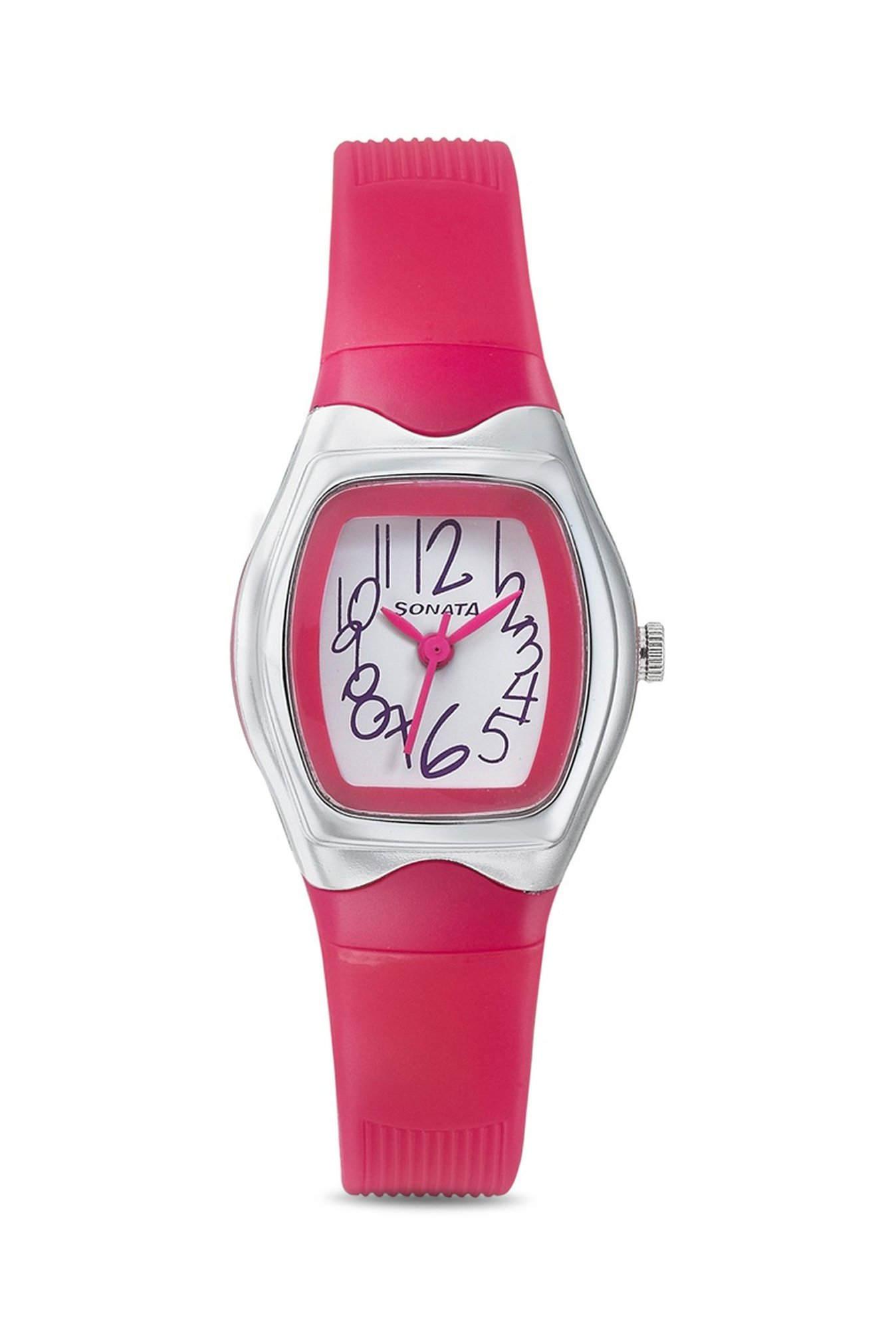 Sonata 8989PP06J Analog White Dial Women's Watch