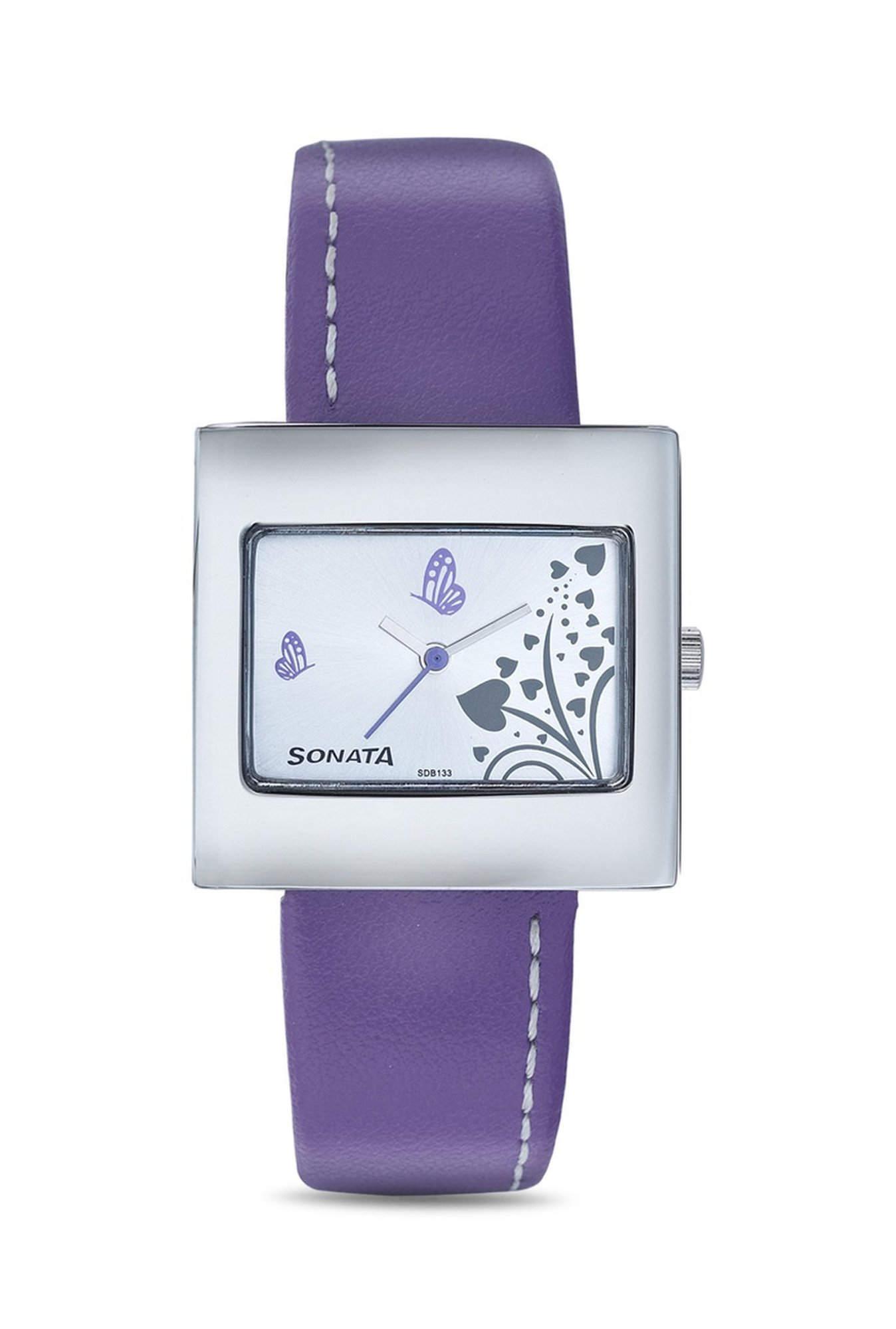 Sonata NG8965SL02AC Yuva Fashion Analog White Dial Women's Watch (NG8965SL02AC)