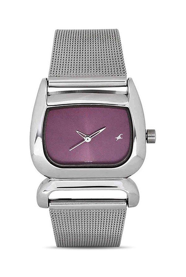 Fastrack NG6091SM01 Analog Purple Dial Women's Watch (NG6091SM01)