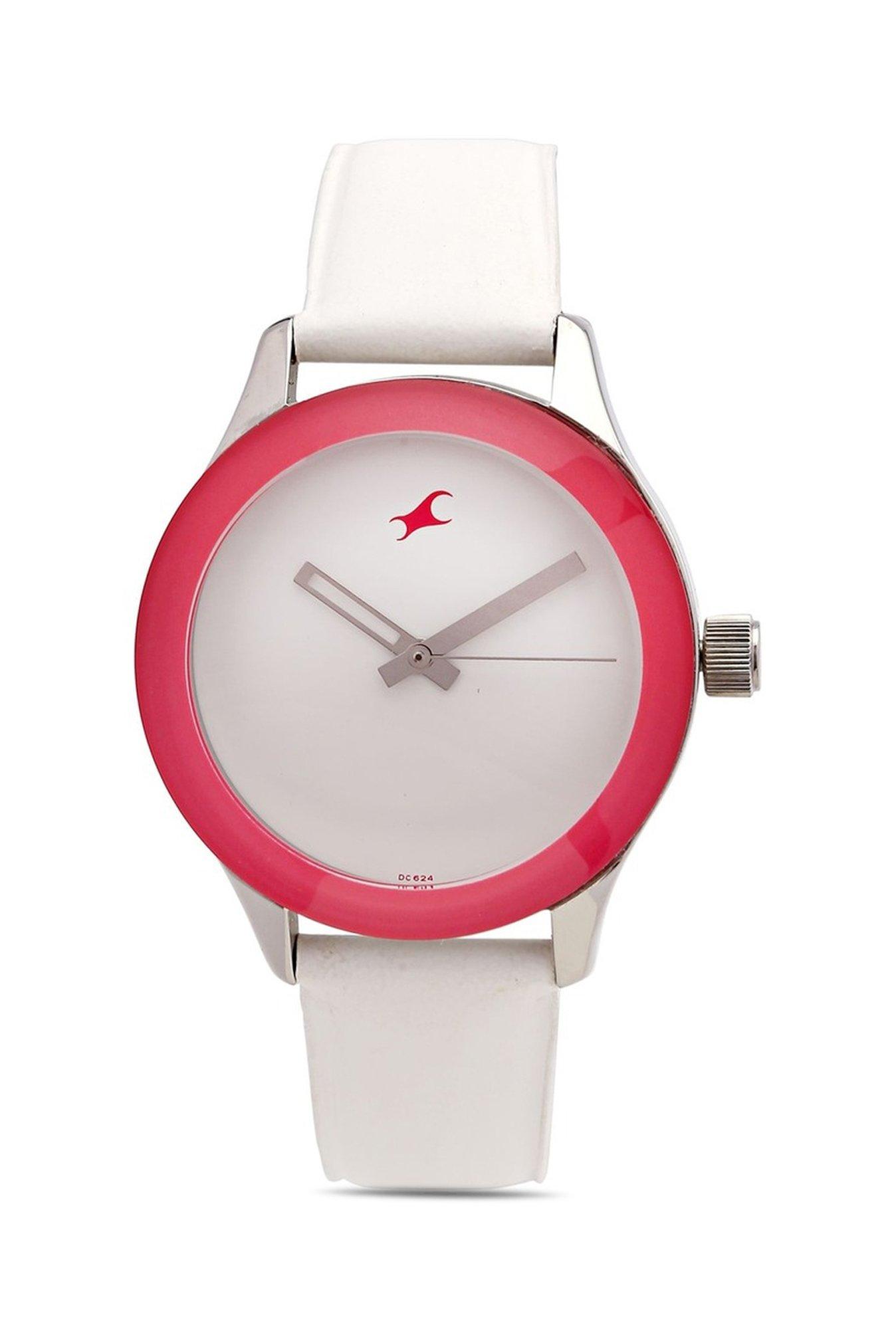 Fastrack 6078SL01 Monochrome Analog White Dial Women's Watch (6078SL01)