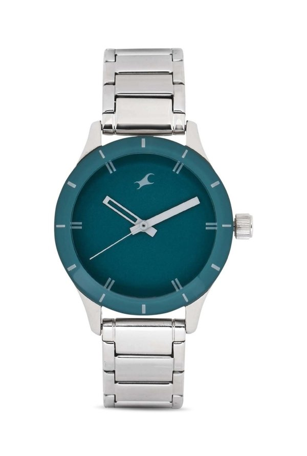 Fastrack NG6078SM01C Monochrome Analog Green Dial Women's Watch