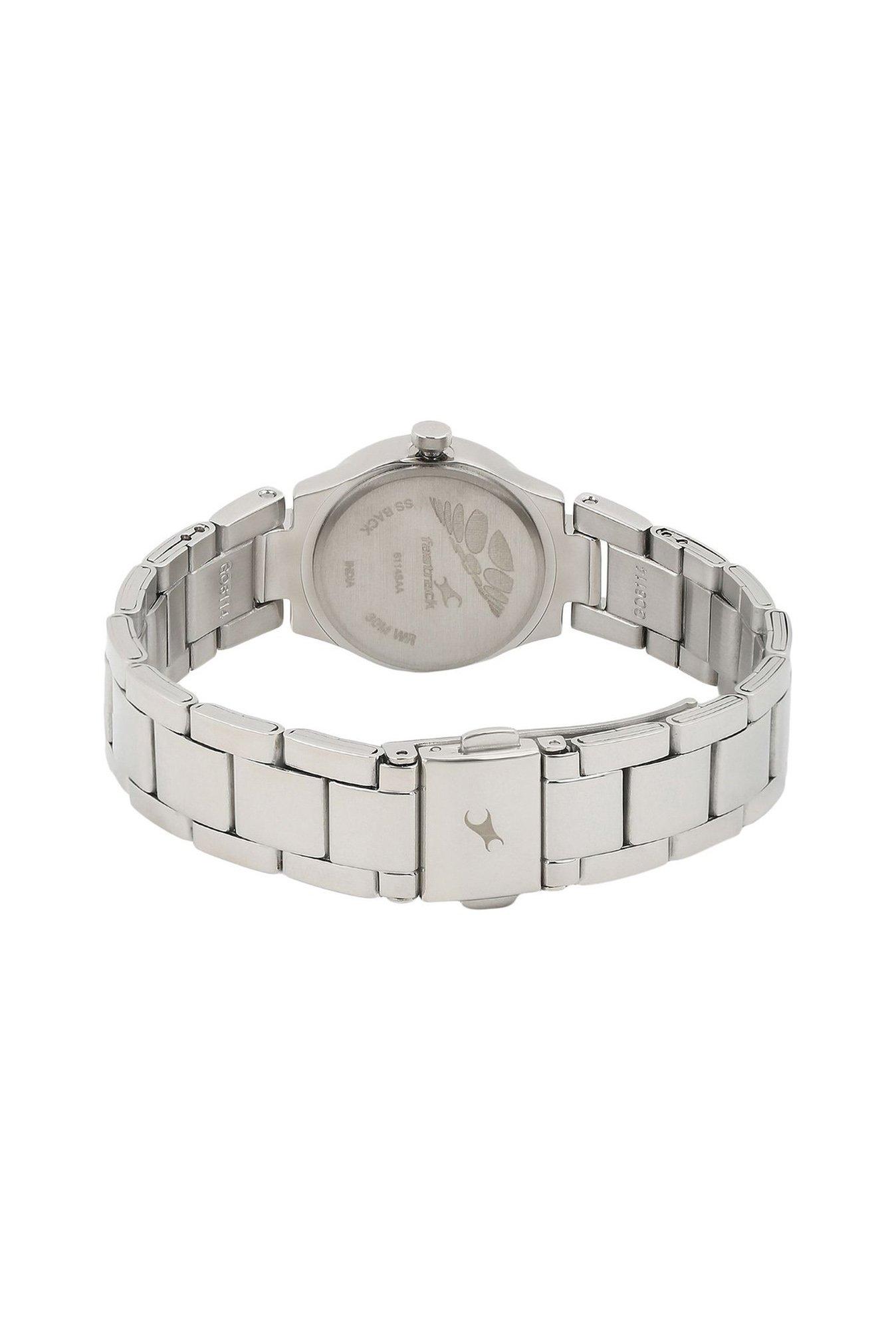 Fastrack NG6114SM01 Analog Silver Dial Women's Watch (NG6114SM01)