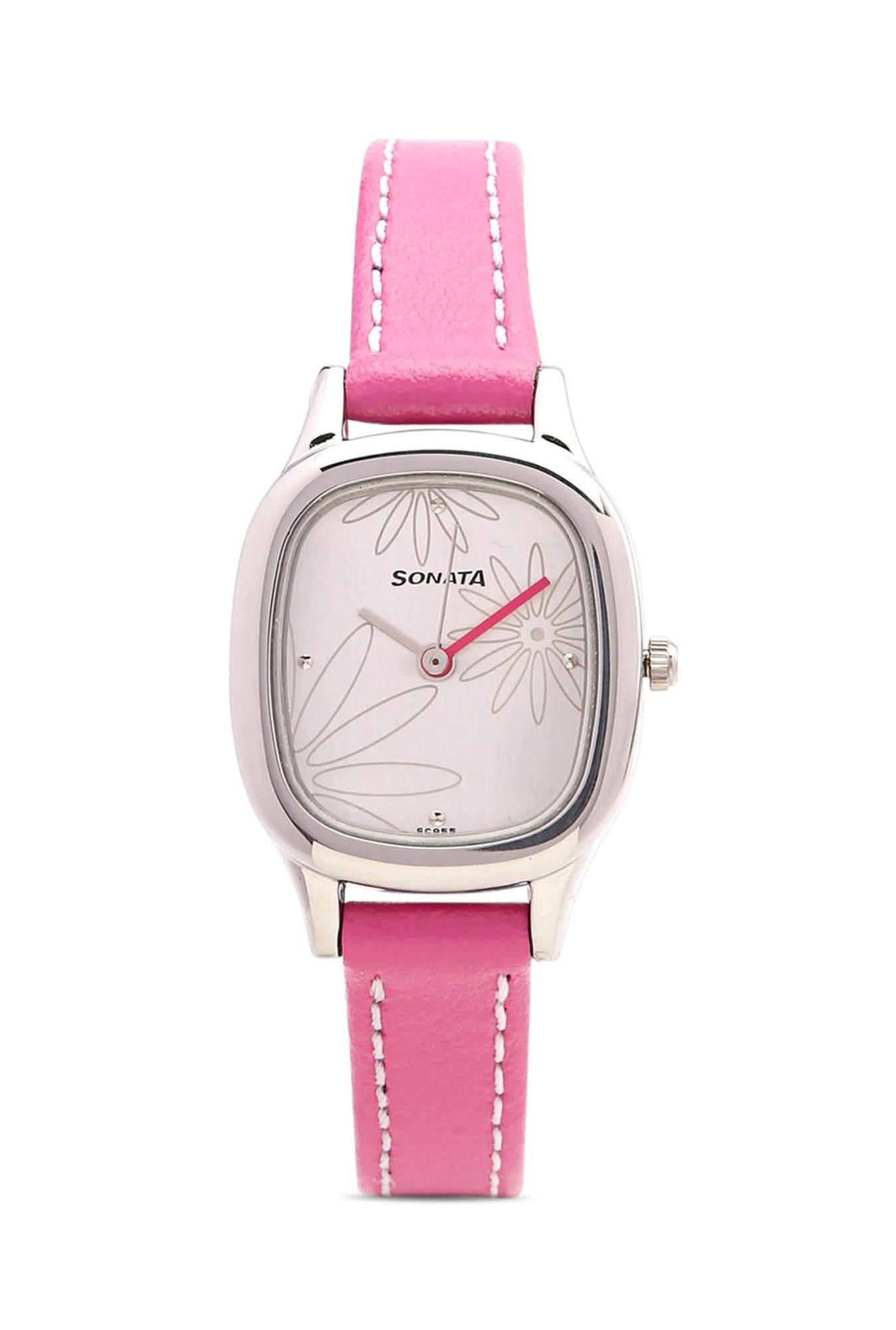 Sonata NG8060SL01C Yuva Analog White Dial Women's Watch