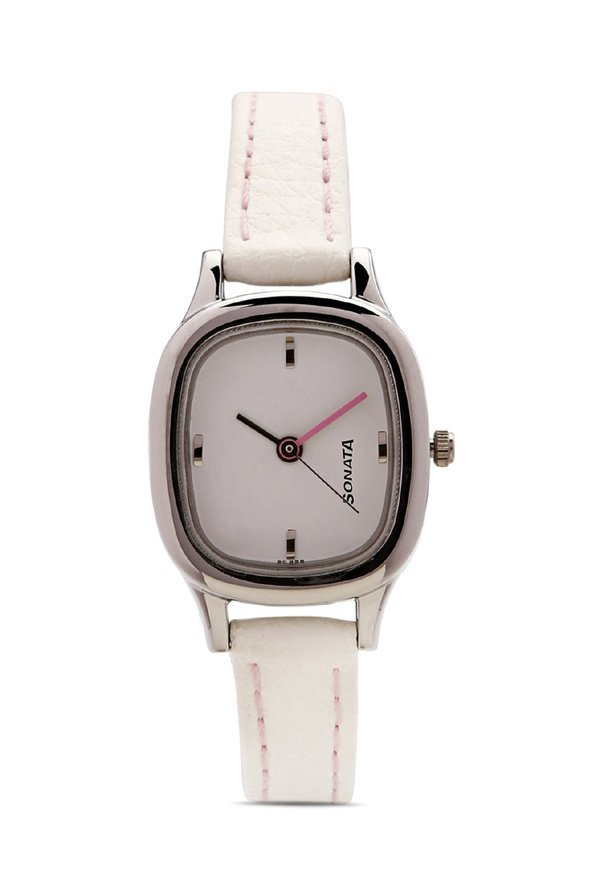 Sonata NG8060SL02C Yuva Analog White Dial Women's Watch (NG8060SL02C)