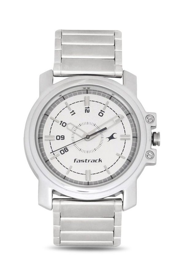 Fastrack NG3039SM01C Quartz White Round Men's Watch (NG3039SM01C)