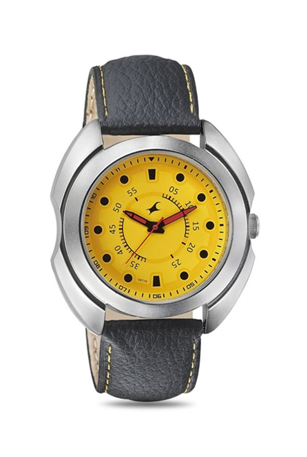 Fastrack 3117SL03 Analog Yellow Dial Men's Watch