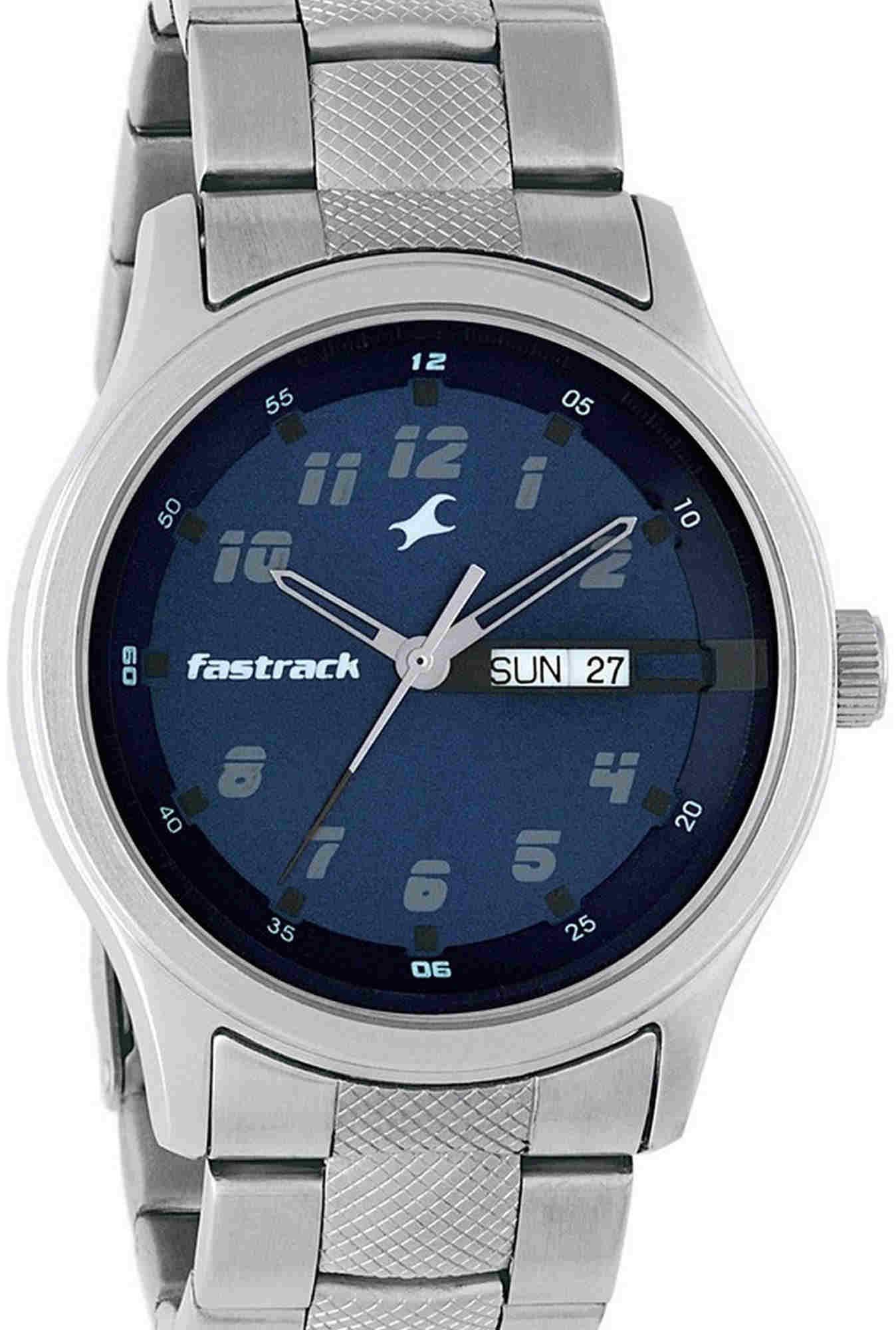 Fastrack NG3001SM02 Essentials Analog Blue Dial Men's Watch (NG3001SM02)