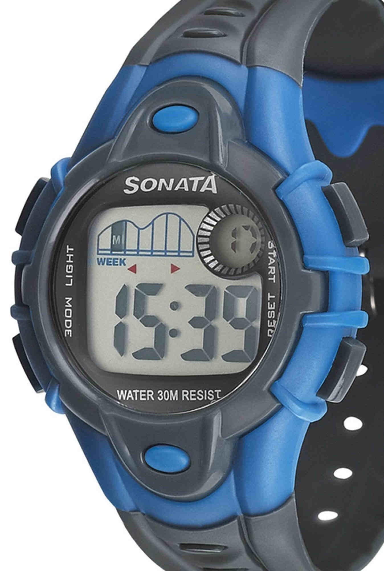 Sonata NH87012PP03 Super Fibre XI Digital Unisex Watch (NH87012PP03)