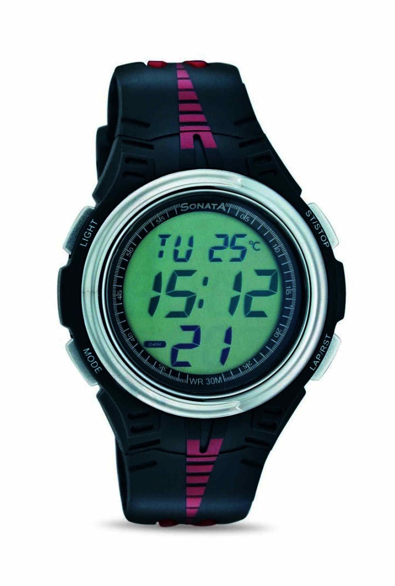 Sonata 7965PP02 Super Fibre Digital Grey Dial Men's Watch (7965PP02)