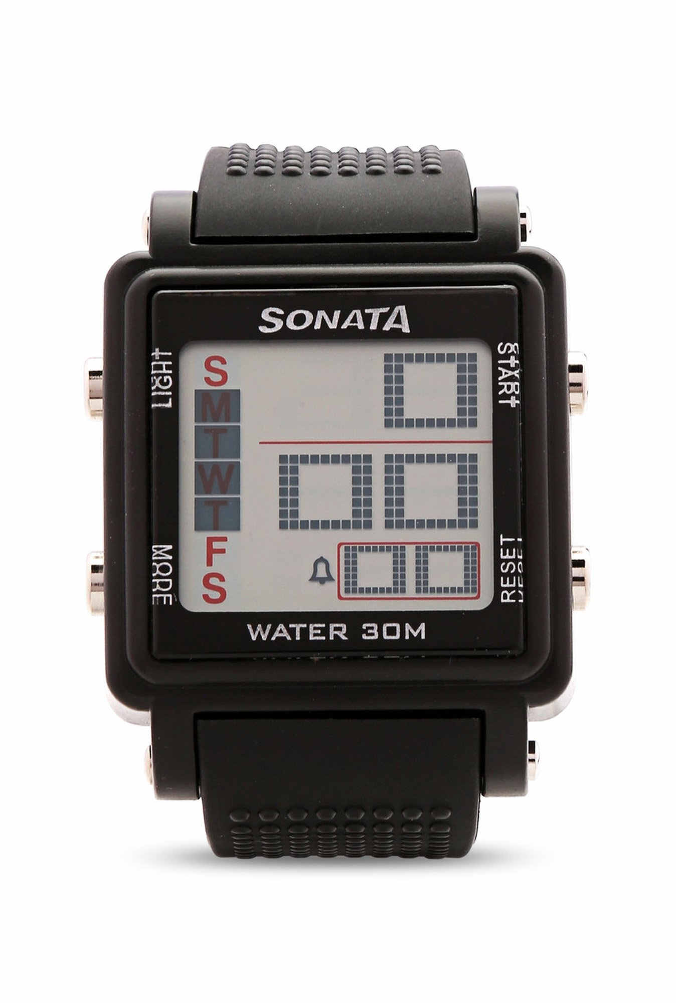 Sonata 77043PP01 Super Fibre Digital Grey Dial Men's Watch (77043PP01)