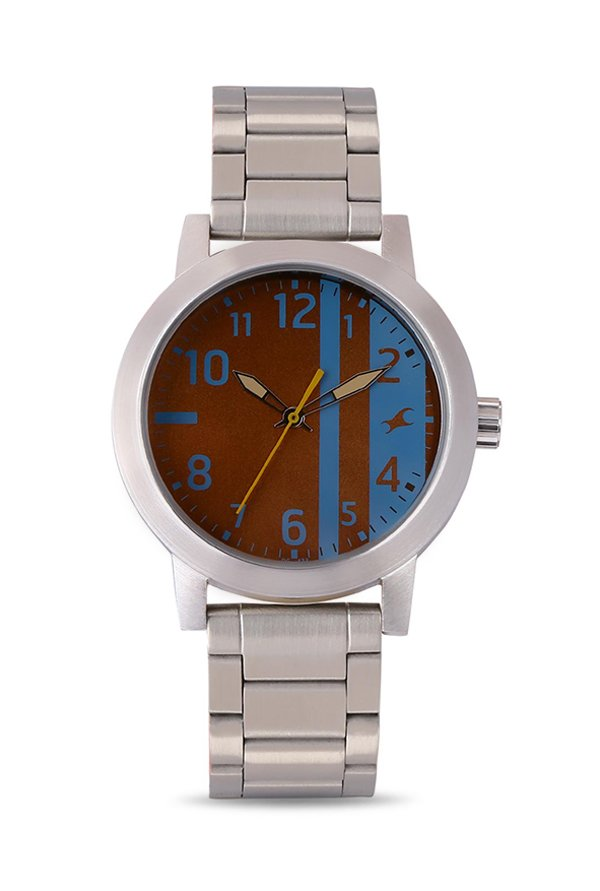 Fastrack 3162SM02 Analog Brown Dial Men's Watch