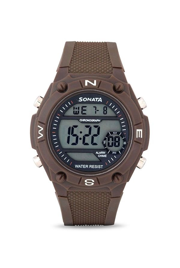 Sonata 77033PP02 Digital Multi Colour Dial Men's Watch