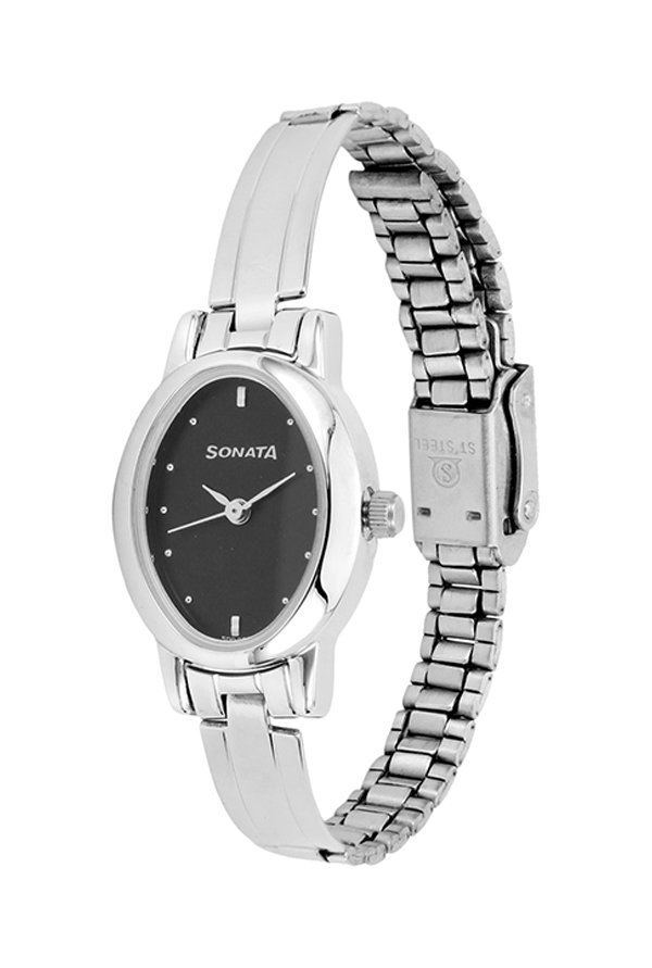 Sonata 8100SM02C Black Dial Women's Watch (8100SM02C)