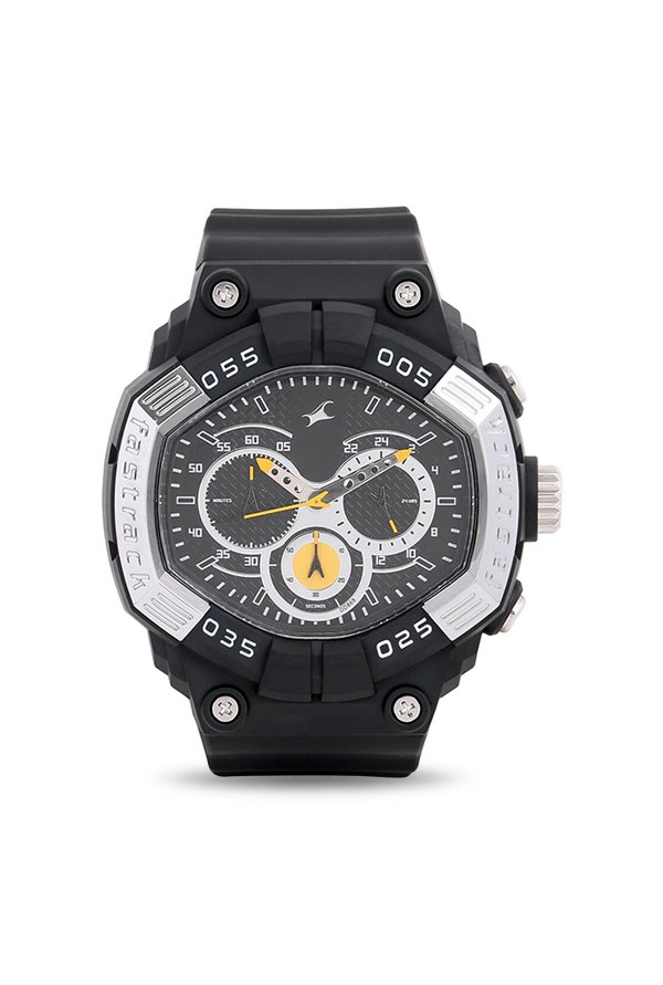 Fastrack 38006PP02 Chronograph Black Dial Men's Watch