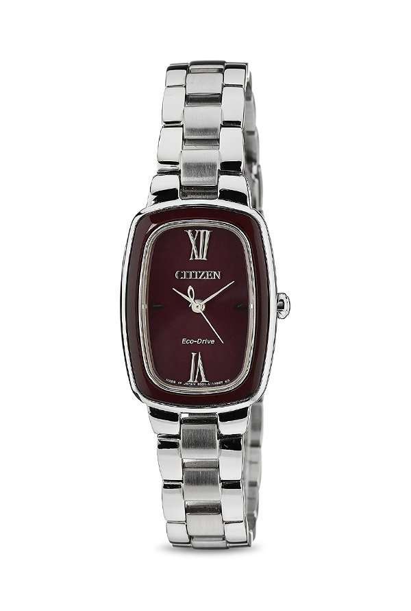 Citizen Eco-Drive EM0006-53W Analog Red Dial Women's Watch (EM0006-53W)
