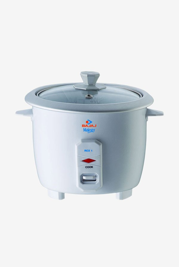 Bajaj Majesty RCX1 Mini Multifunction Cooker, 0.4 L (White)