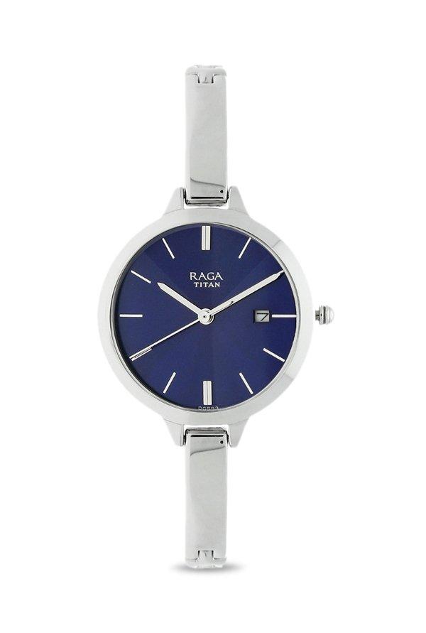 f588daf305fad Titan Raga 2578SM01 Viva Analog Blue Dial Women's Watch (2578SM01)