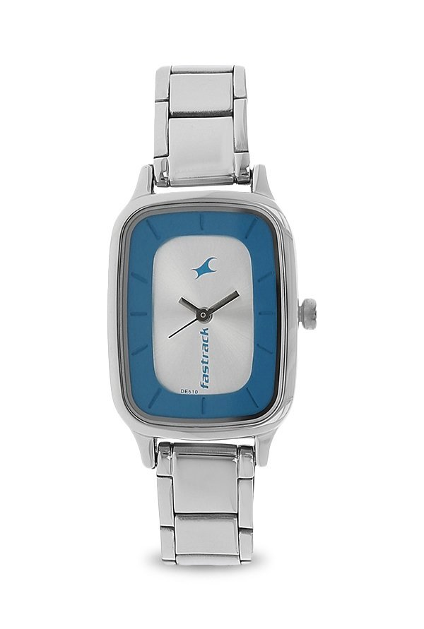 Fastrack NK6121SM01 Silver Toned Analogue Women's Watch (NK6121SM01)