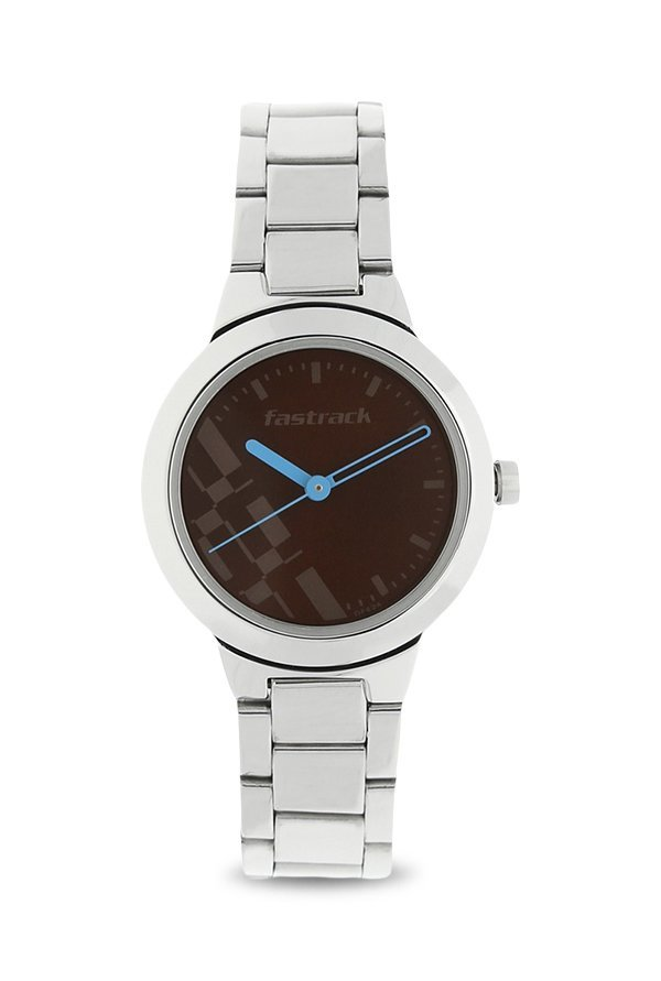 Fastrack 6150SM02 Bare Basics Checkmate Women's Watch (6150SM02)