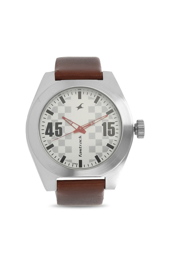 Fastrack NK3110SL01 White & Silver Toned Analogue Men's Watch (NK3110SL01)