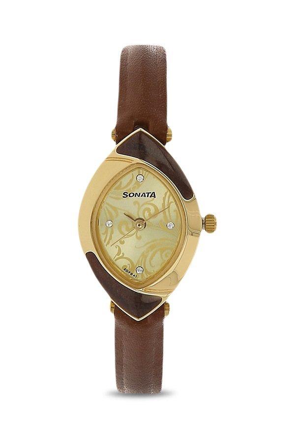 Sonata 8069YL03 Analog Brown Dial Women's Watch