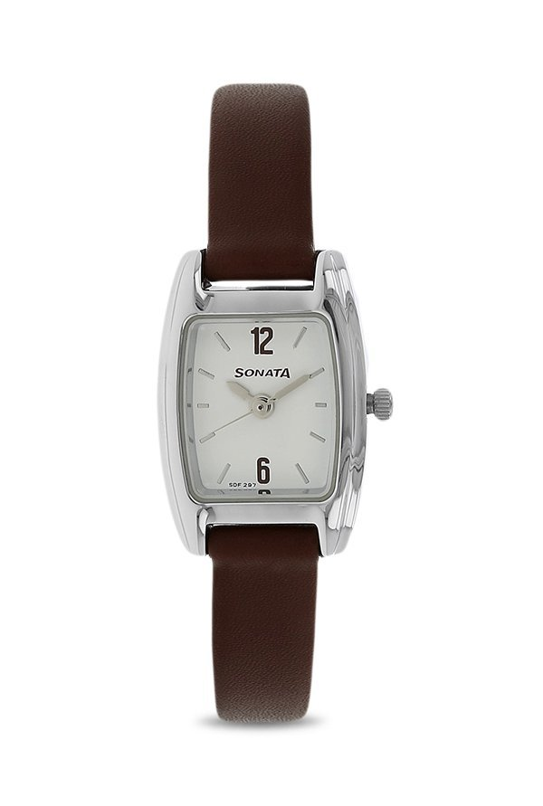 Sonata 8103SL04 Professional White Dial Analog Women's Watch
