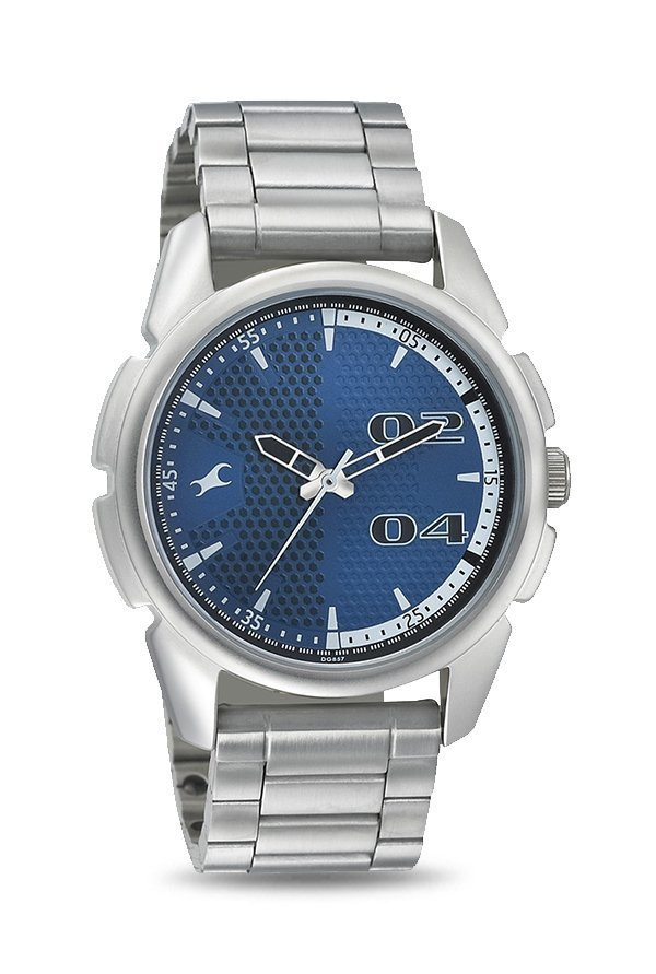 Fastrack 3124SM03 Loopholes Analog Blue Dial Men's Watch