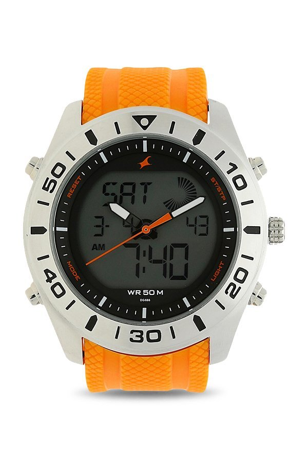Fastrack 38034SP01 Analog Orange Dial Men's Watch