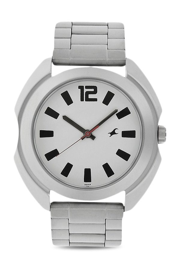 Fastrack 3117SM01 Analog White Dial Men's Watch