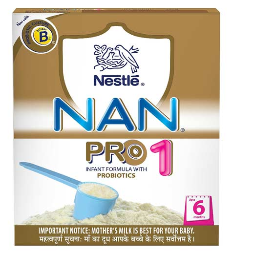 Nestle Nan Pro 1 Starter Infant Formula with Probiotics, Upto 6 months, 400g