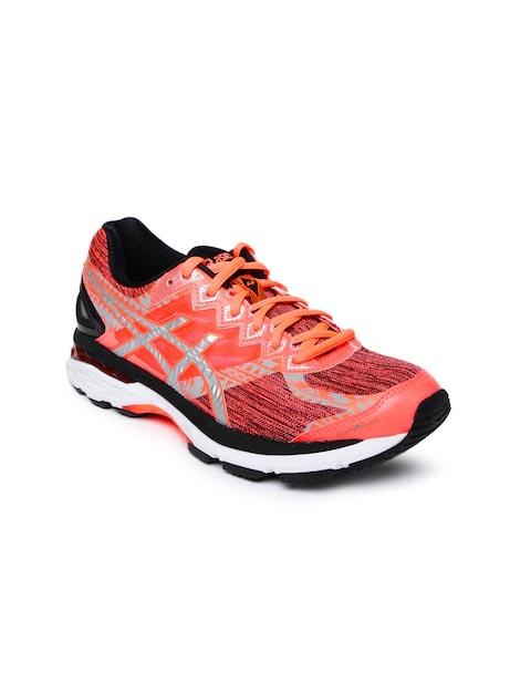 ASICS Women Neon Orange & Pink Running Shoes