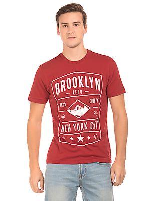 Aeropostale Crew Neck Graphic Print T-Shirt