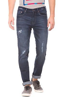 Aeropostale Dark Wash Distressed Jeans