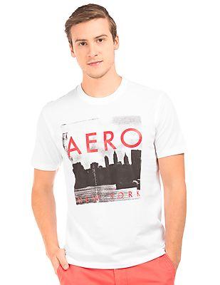Aeropostale Graphic Print Regular Fit T-Shirt