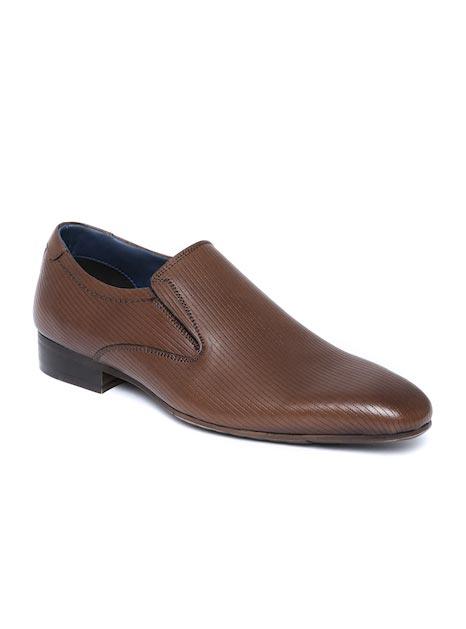 Alberto Torresi Men Tan Brown Leather Formal Shoes