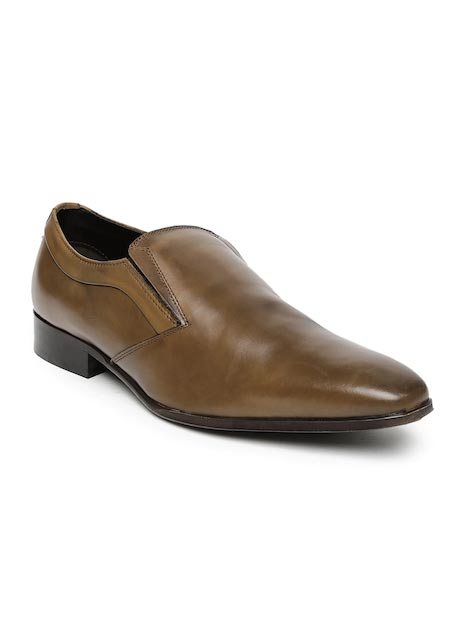 Alberto Torresi Men Tan Leather Semiformal Slip-Ons