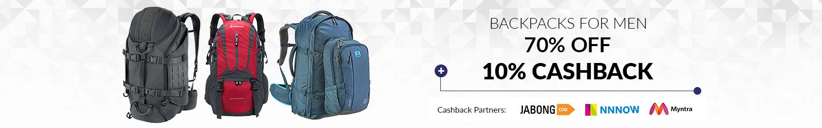 f5b6fb981b Backpacks For Men  Buy Backpacks for Men Online at 70% Discount - 2019