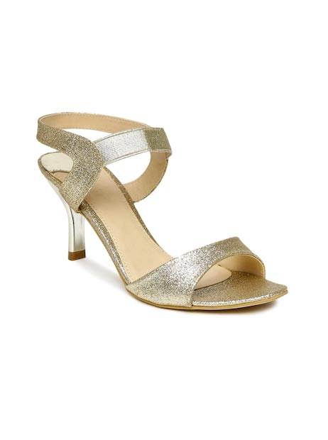 Catwalk - Slim - Catwalk Women Gold-Toned Shimmery Slim Heels