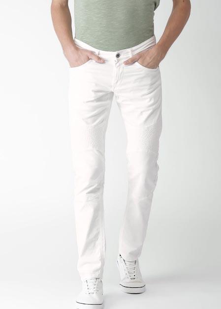 Celio Men White Slim Fit Mid-Rise Clean Look Stretchable Jeans
