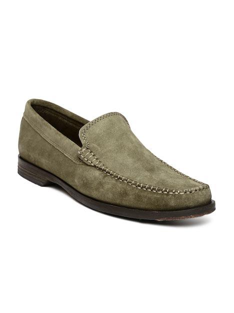 Clarks Men Brown Breken Free Leather Loafers