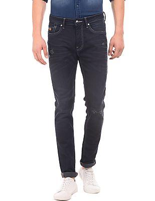 Ed Hardy Super Slim Lightly Distressed Jeans