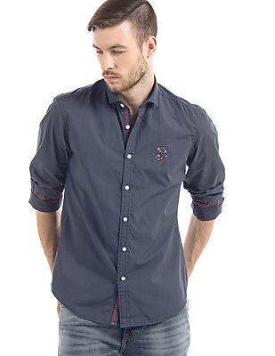 Ed Hardy Polka Print Slim Fit Shirt