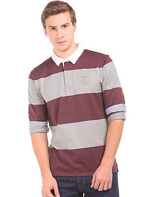 Gant Long Sleeve Striped Polo Shirt