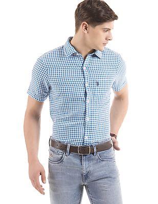 U.S. Polo Assn. Gingham Tailored Fit Shirt