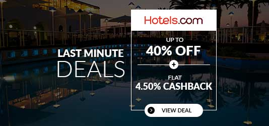 Last Minute Deals: Up to 40% OFF + FLAT 4.50% Cashback
