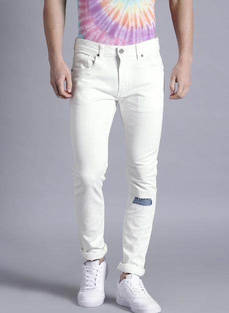 Kook N Keech Men White Regular Fit Mid-Rise Jeans