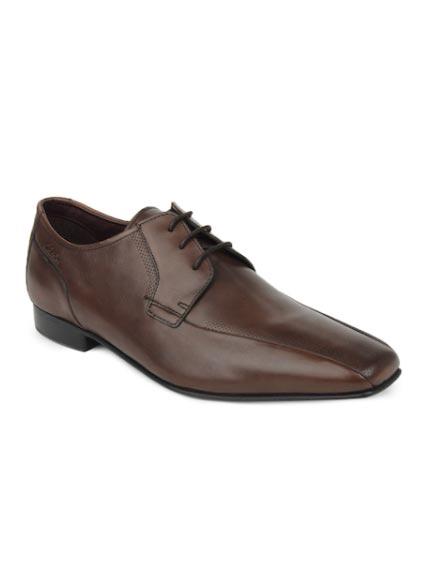 Clarks Men Brown Chilton Lace Leather Formal Shoes