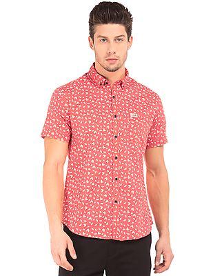 U.S. Polo Assn. Denim Co. Leaf Print Button Down Shirt