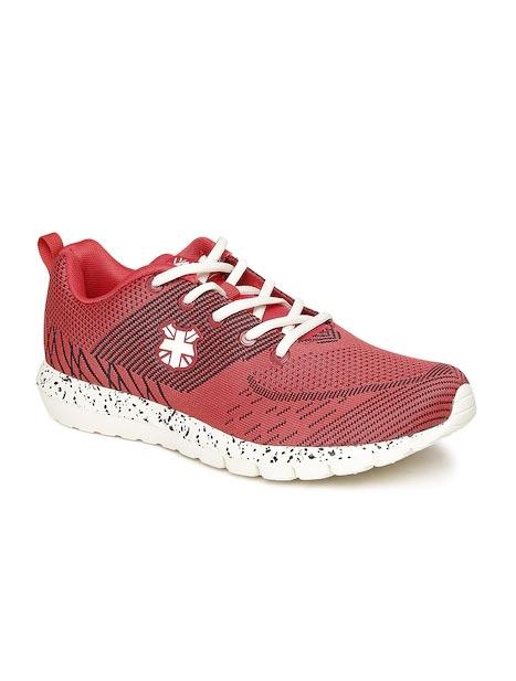 Lee Cooper Men Red Patterned Sports Shoes